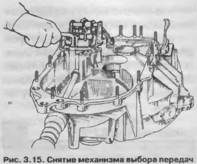 Снятие механизма выбора передач коробки передач