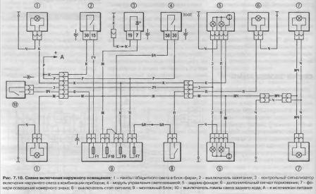 Схема включения наружного освещения