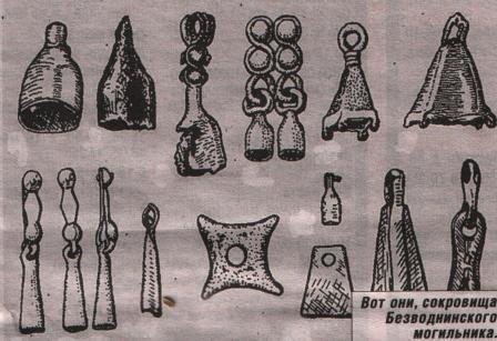 Безводное, Кстовский район, могильник: находки