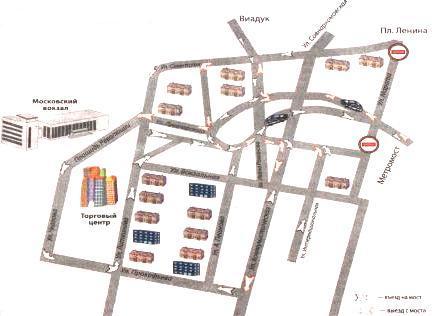 Подъезды к метромосту (заречная часть города)