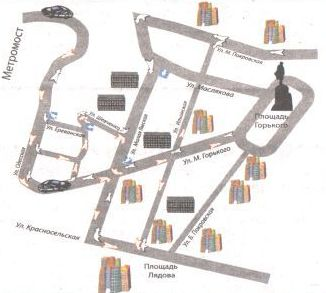 Подъезды к метромосту (верхняя часть города)