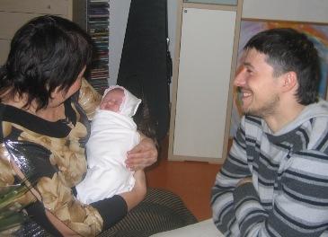 знакомство с папой и бабушкой