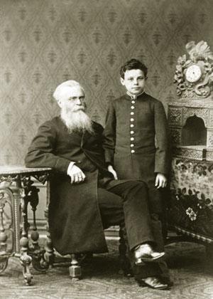 Леонид Несторович Ященко с сыном Александром