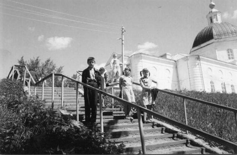 Лестница в городском парке