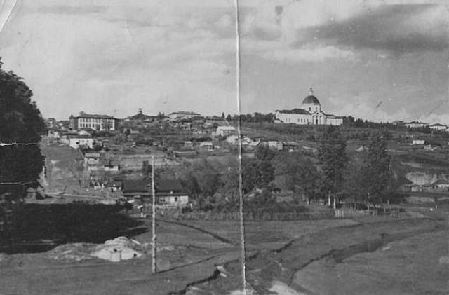 Центр Сергача с высокого берега Сергачки