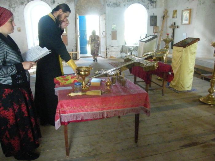 Молитва перед освящением креста