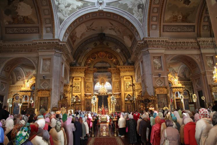 Праздничная служба в Воскресенском соборе в Арзамасе