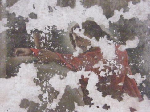 Фрагмент фрески в алтаре храма