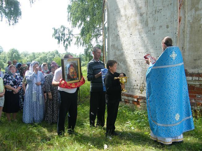Крестный ход и освящение храма