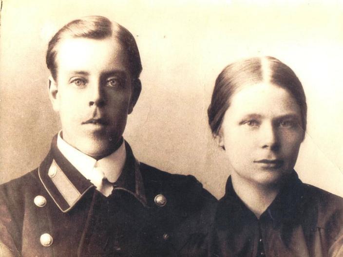 Cвященник Леонид Иванович Леонтьев с женой Ниной Сергеевной