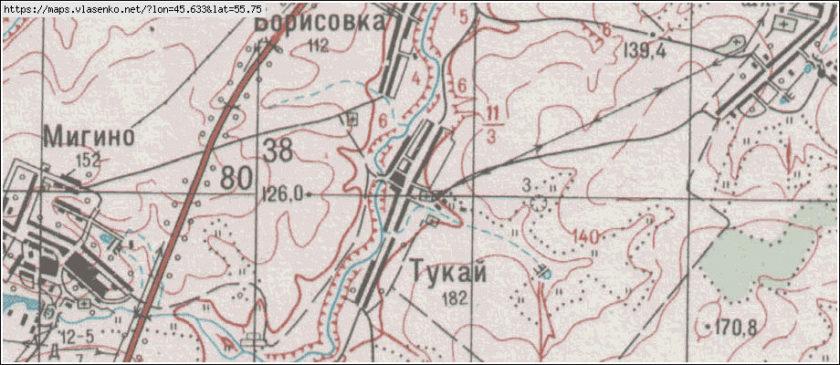 Село Мигино на карте