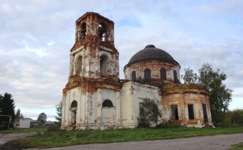 Остатки храма в селе Ожгибовке Пильнинского района