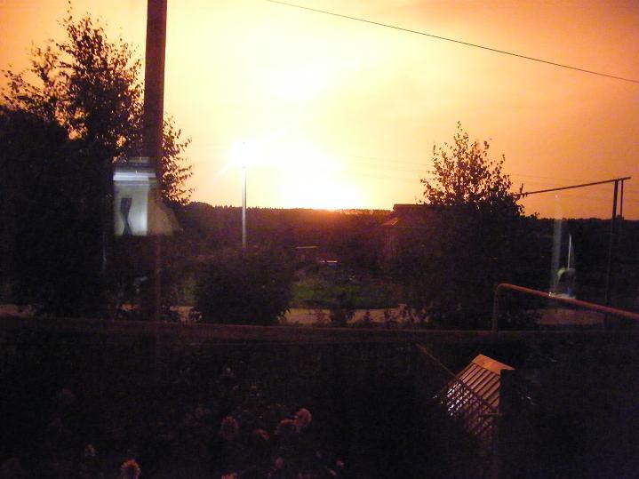 Пожар на газопроводе в Сергаче