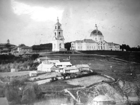 Из прошлого Сергача. Вид на Владимирский Собор.